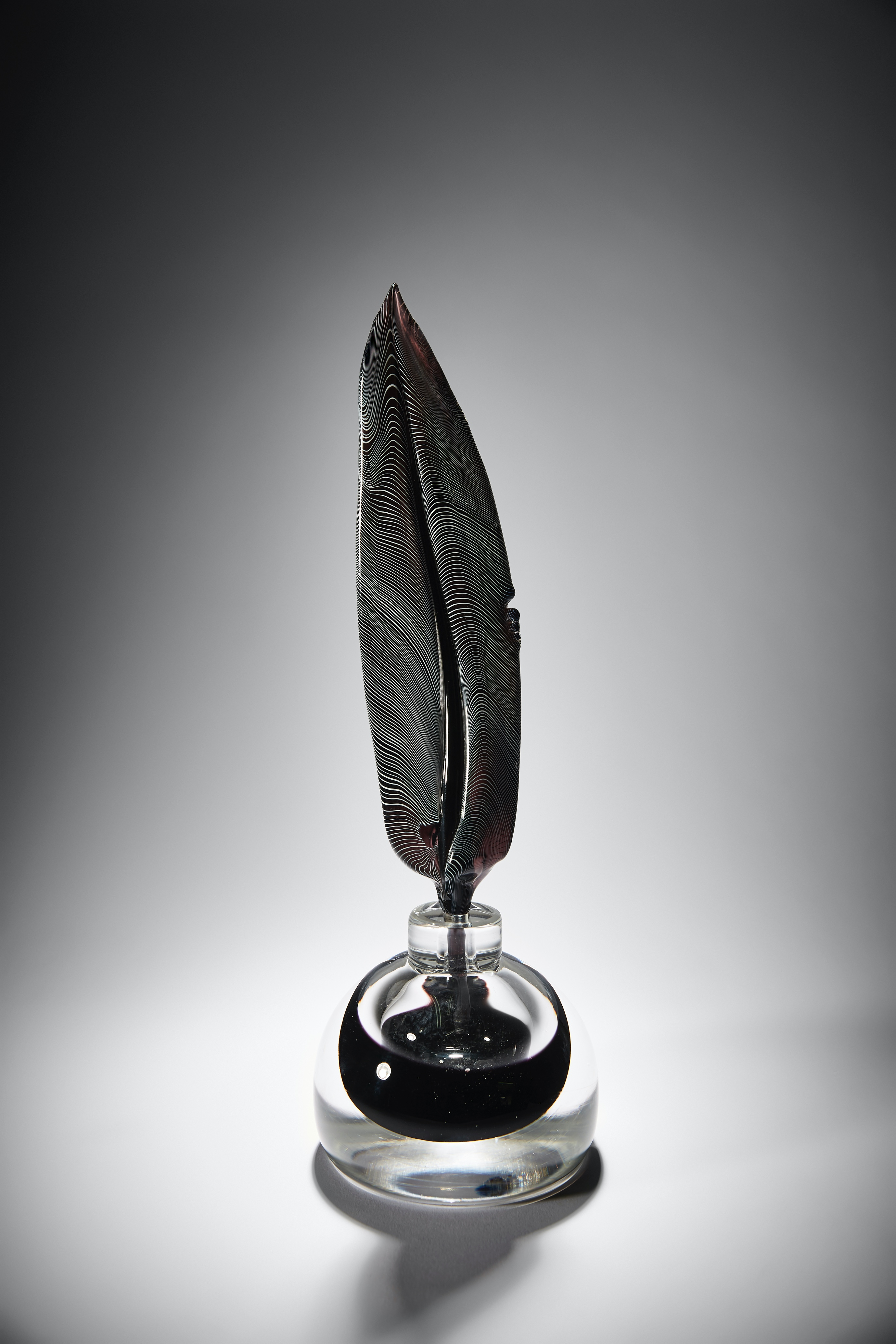 Black quill n ink, by glass artist a Layne Rowe